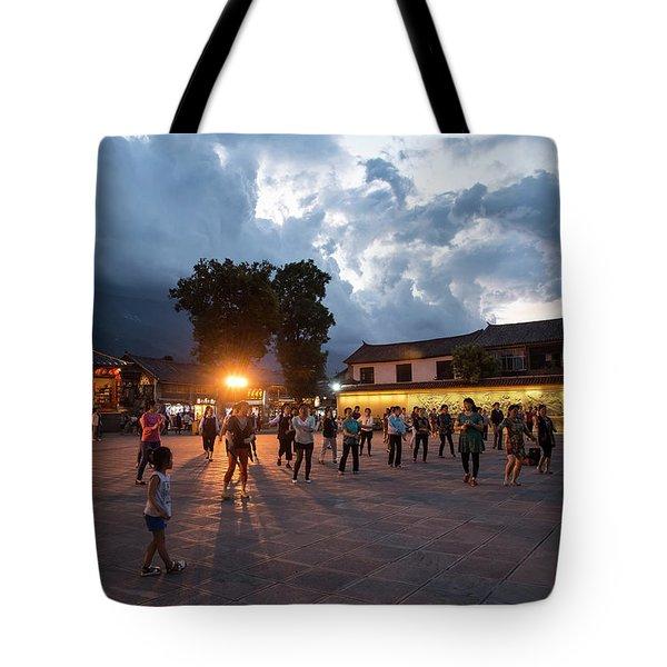 Public Dancing Tote Bag