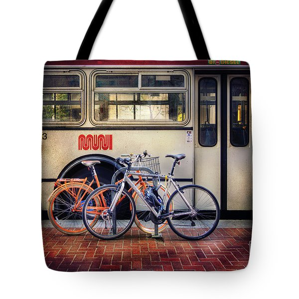 Public Tier Bicycles Tote Bag by Craig J Satterlee