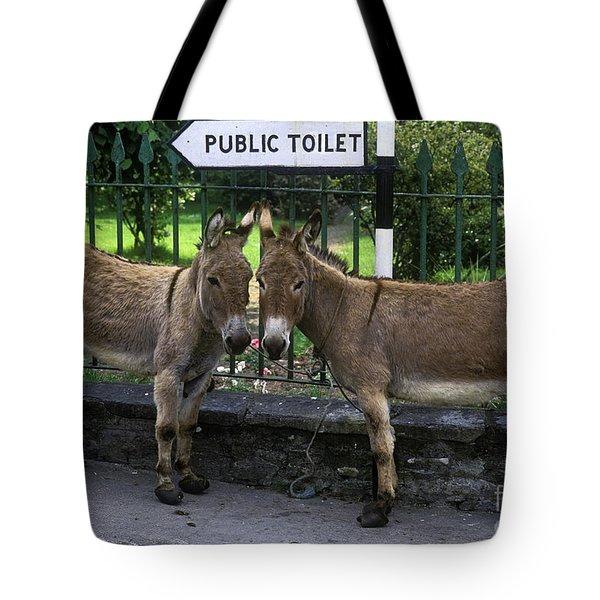 Public Toilet Tote Bag by John Greim