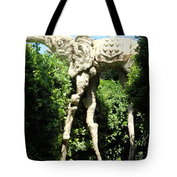 Tote Bag featuring the photograph Pubol Spain Gala Castle Garden by Gregory Dyer