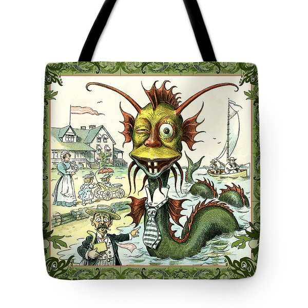 Card Puck Serpent Tote Bag