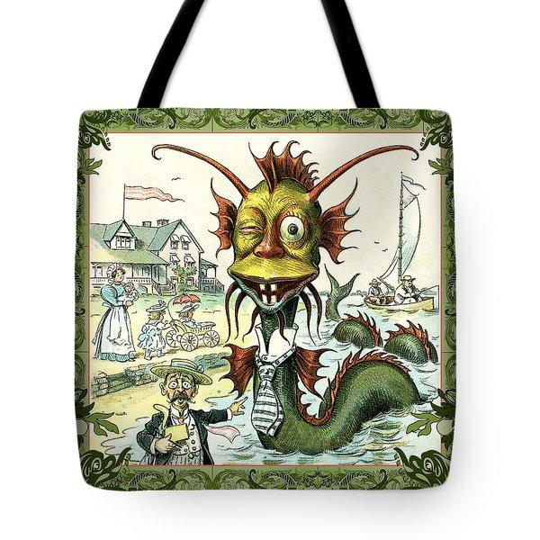 Card Puck Serpent Tote Bag