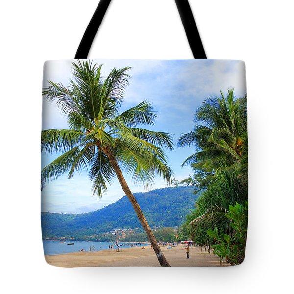 Phuket Patong Beach Tote Bag by Mark Ashkenazi
