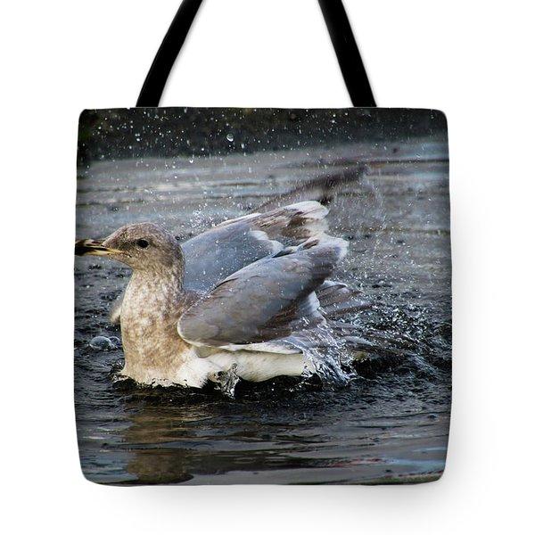 Puddle Bath Tote Bag