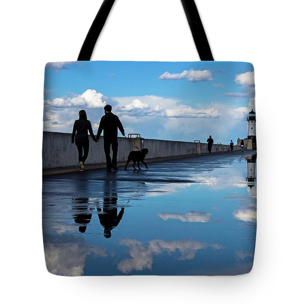 Tote Bag featuring the photograph Puddle-licious by Mary Amerman