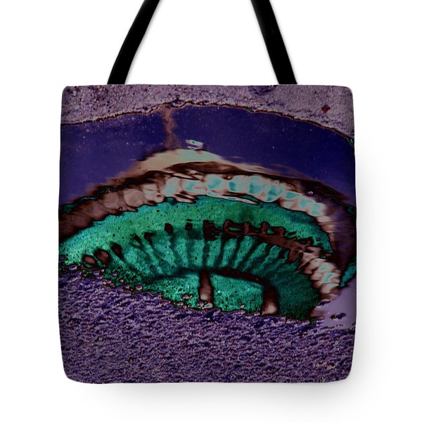 Puddle Needle Tote Bag by Tim Allen