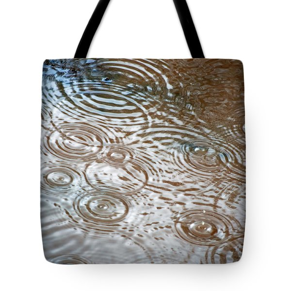 Puddle Patterns Tote Bag by Gwyn Newcombe