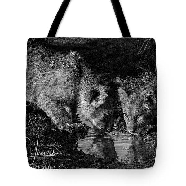 Tote Bag featuring the photograph Puddle Time by Karen Lewis