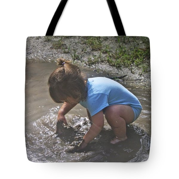 Puddles And Kids Tote Bag