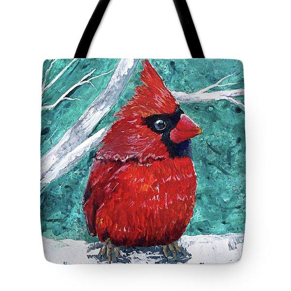 Pudgy Cardinal Tote Bag