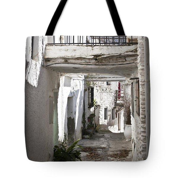 Tote Bag featuring the photograph Puebla Blanca Capileira by Heiko Koehrer-Wagner