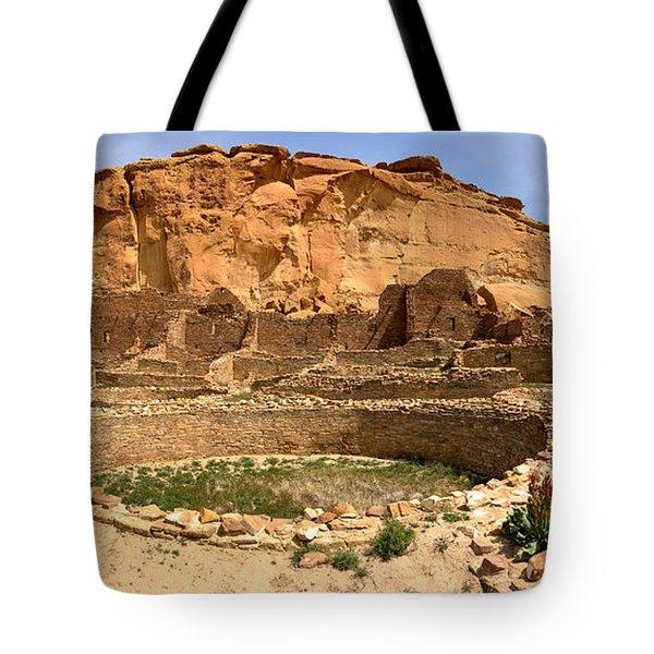 Tote Bag featuring the photograph Pueblo Bonito Kiva Ruins by Adam Jewell