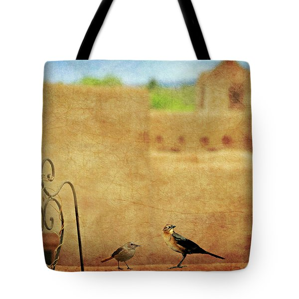 Tote Bag featuring the photograph Pueblo Village Settlers by Diana Angstadt
