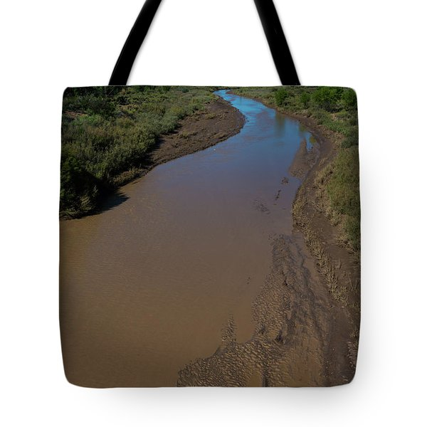 Puerco River Flows Tote Bag