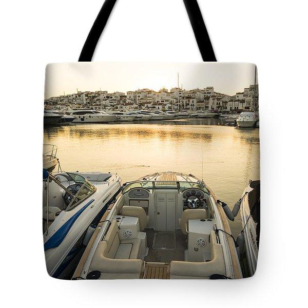 Puerto Banus Tote Bag by Perry Van Munster
