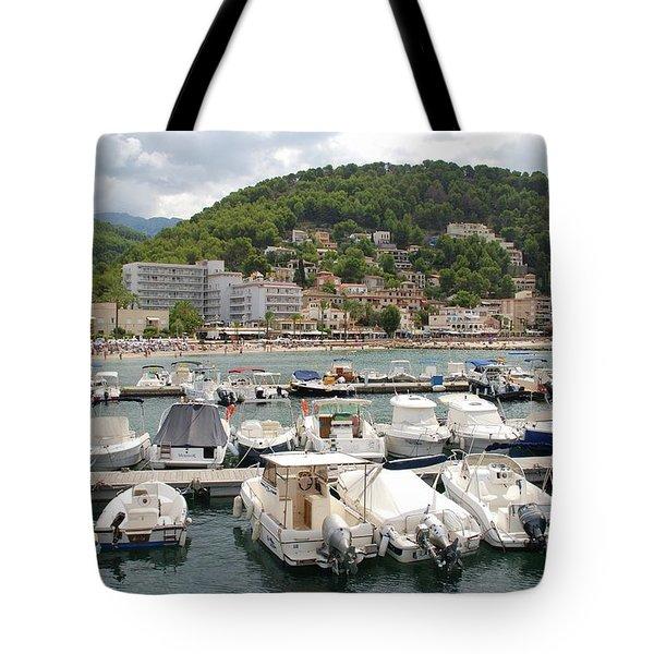 Puerto De Soller In Majorca Tote Bag