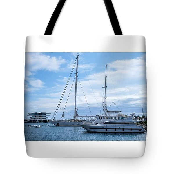 Puerto De Valencia, Spain.  #fuji Tote Bag by Marcelo Valente