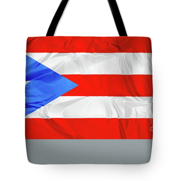 Tote Bag featuring the photograph Puerto Rico Flag by Benny Marty