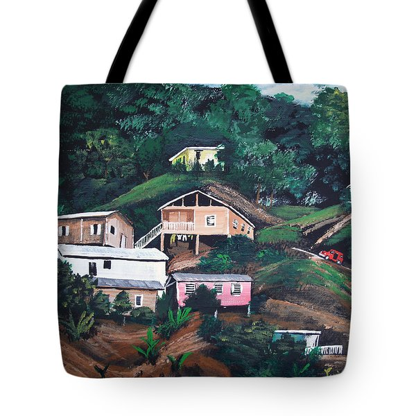 Puerto Rico Mountain View Tote Bag by Luis F Rodriguez