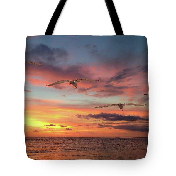 Puerto Vallarta Pelicans Tote Bag