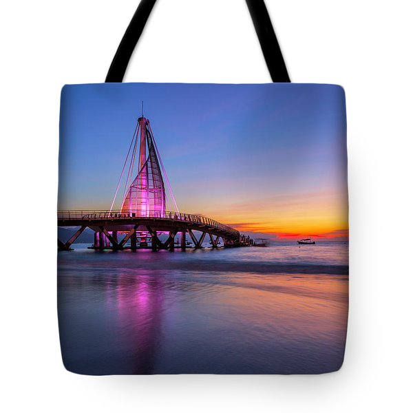 Tote Bag featuring the photograph Puesta De Sol En La Playa De Los Murtos by Edward Kreis