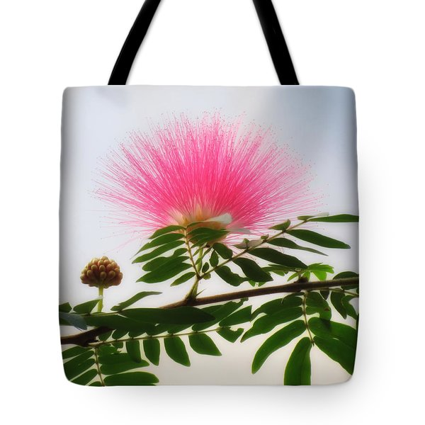 Puff Of Pink - Mimosa Flower Tote Bag by MTBobbins Photography