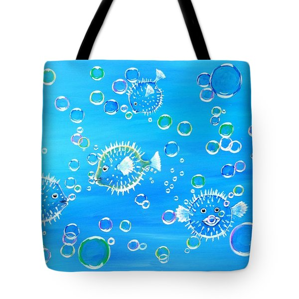 Pufferfish Playtime Tote Bag