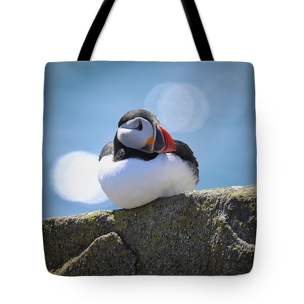 Puffin Time Tote Bag