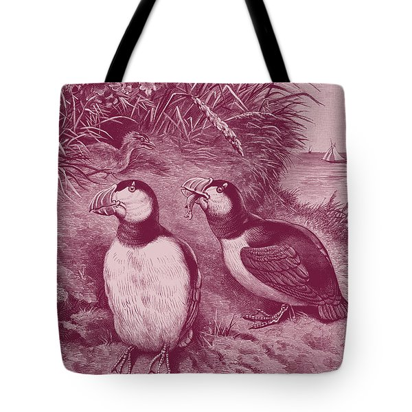 Puffins At Home Tote Bag