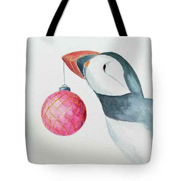 Puffin's First Christmas Tote Bag by Doug Moore