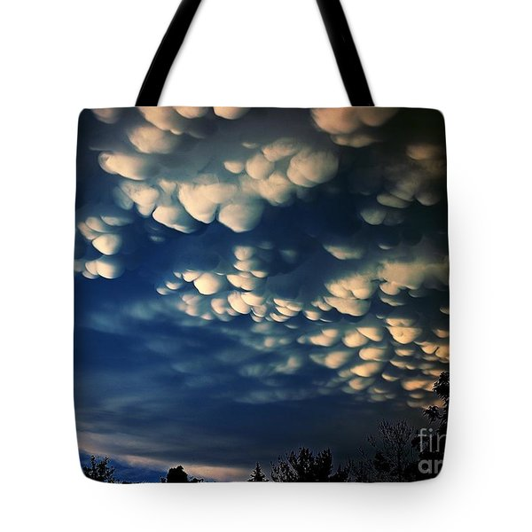 Puffy Storm Clouds Tote Bag