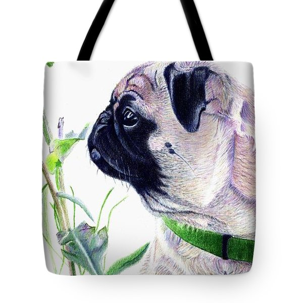 Pug And Nature Tote Bag