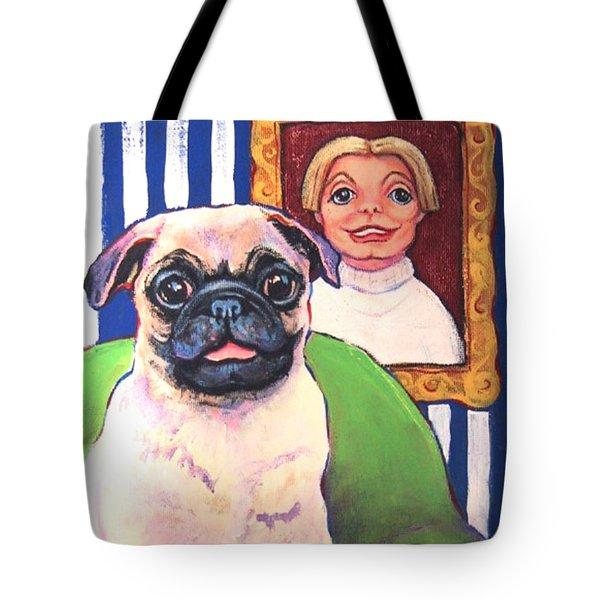 Pug - Beth Ann And Butch Tote Bag by Rebecca Korpita