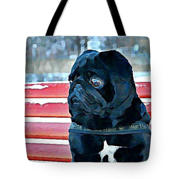 Pug In Deutschland Tote Bag