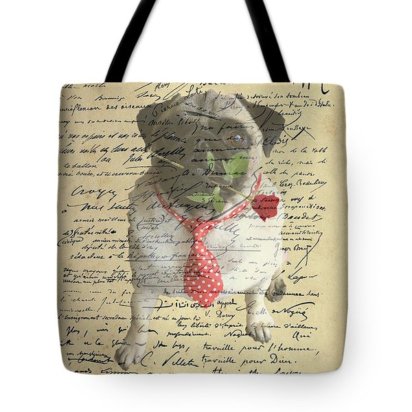 Tote Bag featuring the photograph Pug In Love by Jackson Pearson