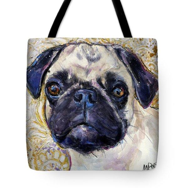 Pug Mug Tote Bag by Molly Poole