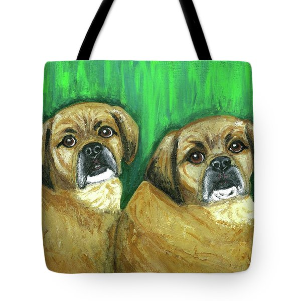 Puggles Bruno And Louie Tote Bag