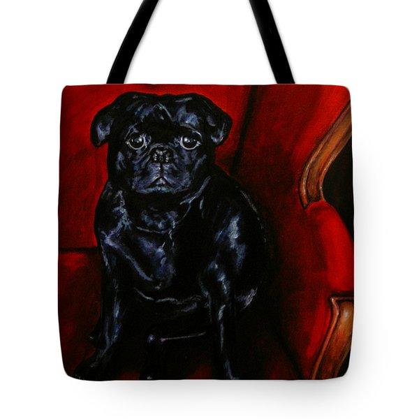 Puggsley Christmas Tote Bag