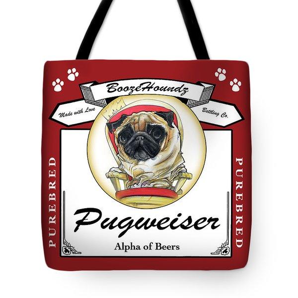 Pugweiser Beer Tote Bag