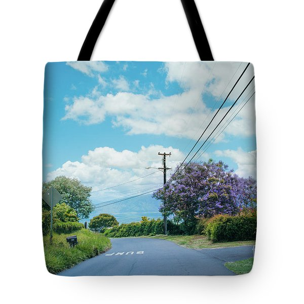 Pulehuiki Road Upcountry Kula Maui Hawaii Tote Bag by Sharon Mau