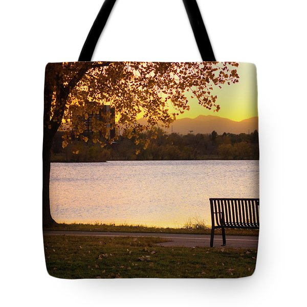 Tote Bag featuring the photograph Pull Up A Seat by John De Bord