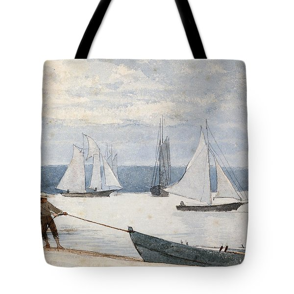 Pulling The Dory Tote Bag