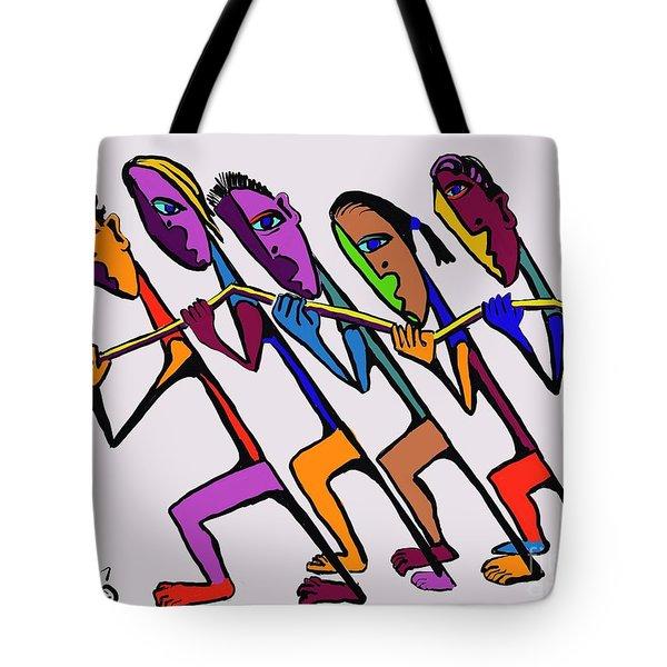 Pulling Together Tote Bag