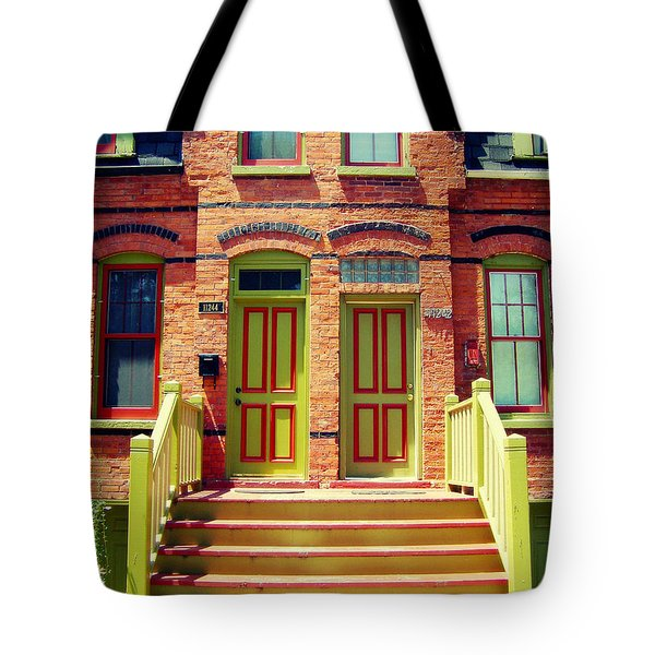 Tote Bag featuring the photograph Pullman National Monument Row House by Kyle Hanson