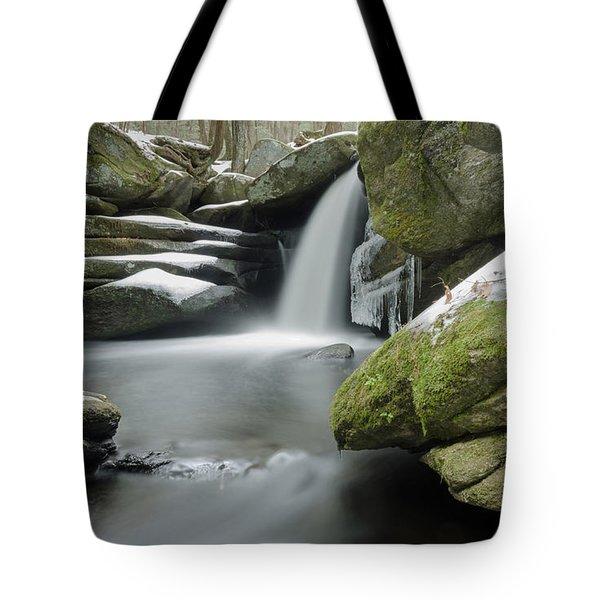 Pulpit Falls Winter Long Exposure Tote Bag
