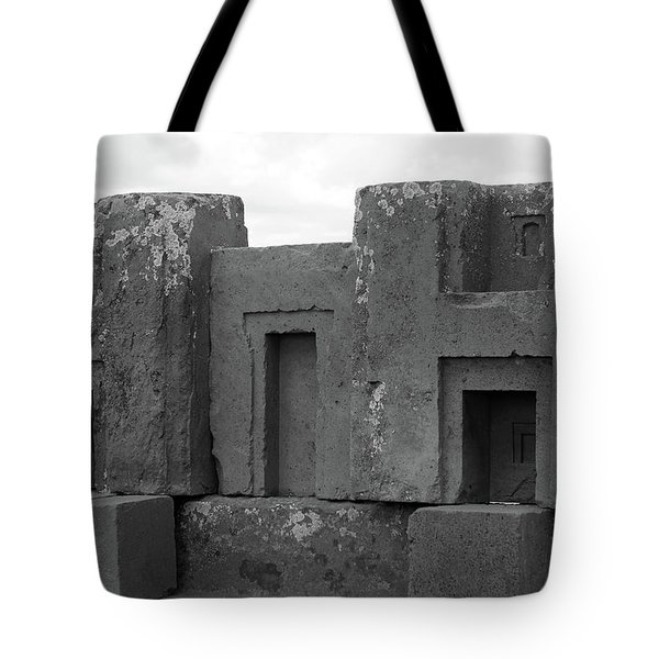 Puma Punku H Blocks, Bolivia Tote Bag