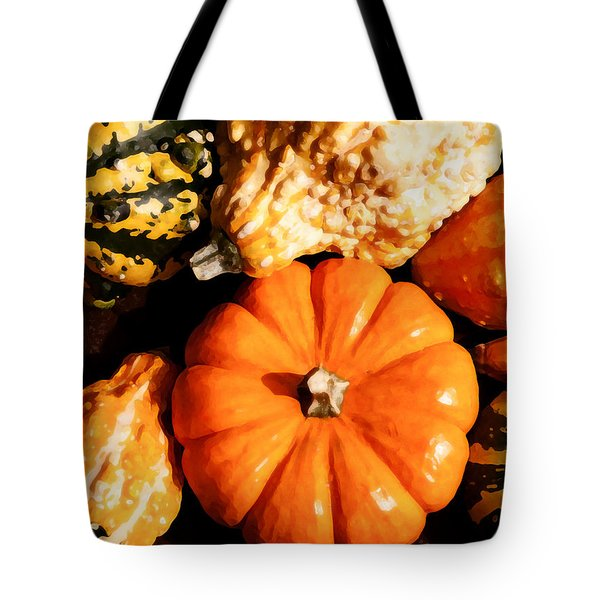 Pumkin And Gourds Tote Bag