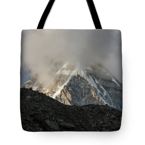 Tote Bag featuring the photograph Pumori Dusk Light by Mike Reid