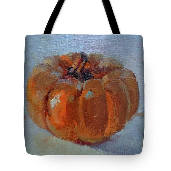 Pumpkin Alone  Tote Bag by Donna Shortt