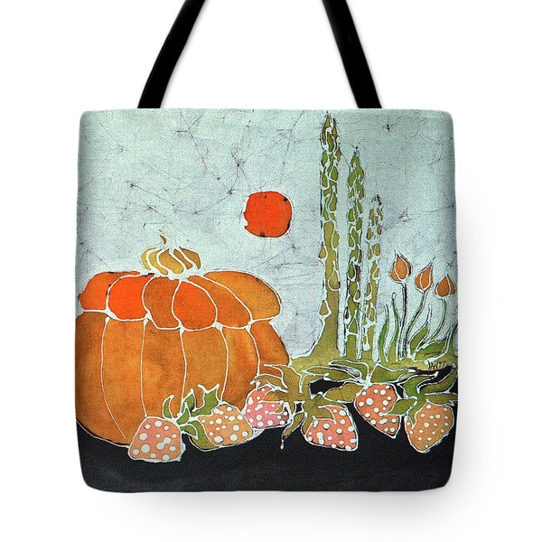 Pumpkin And Asparagus Tote Bag